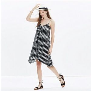 Madewell Silk Trapeze Cami Dress Bloomstamp L NWT